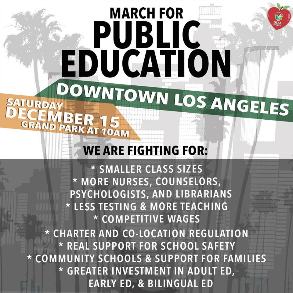 UTLA March For Public Education