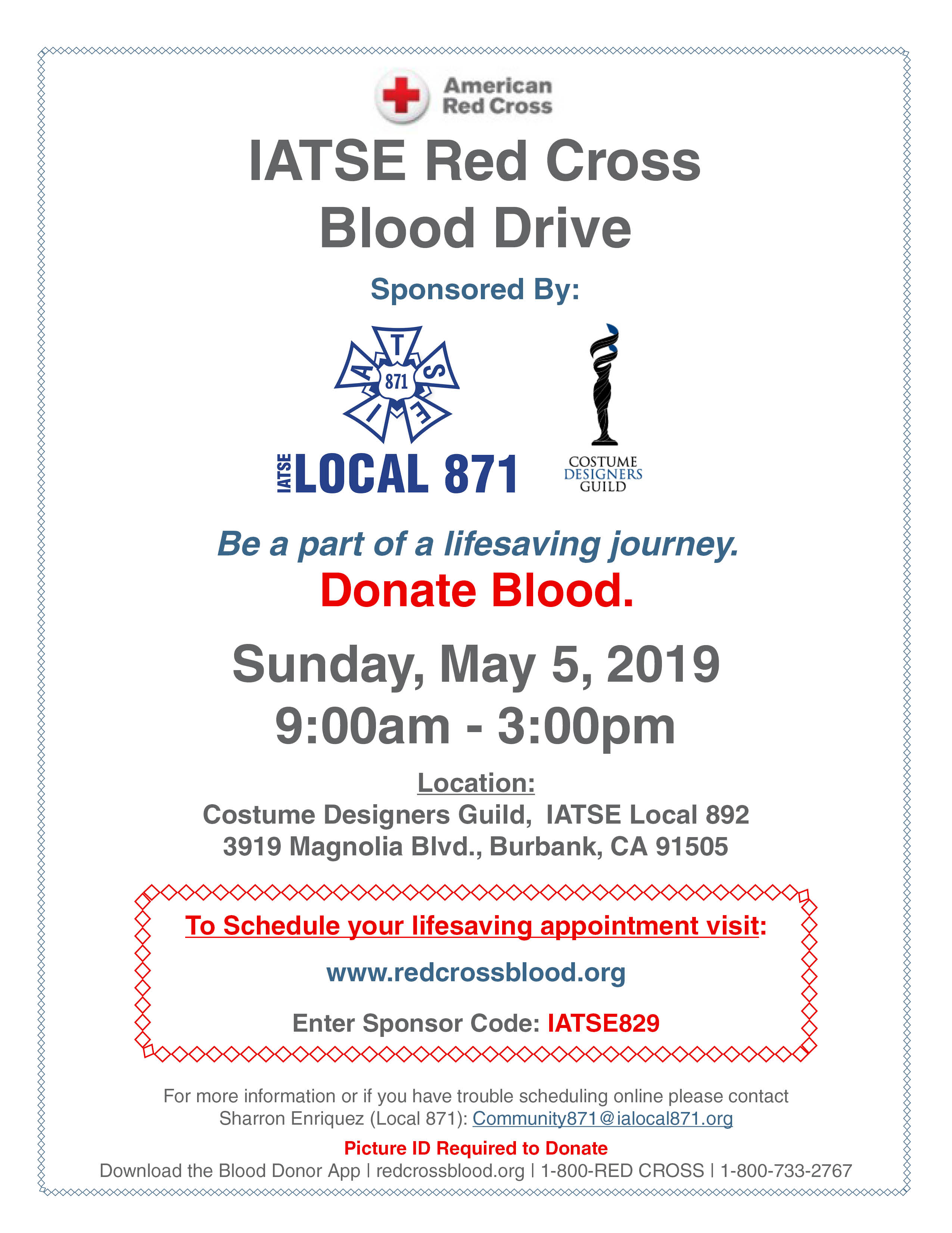 IATSE Red Cross Blood Drive